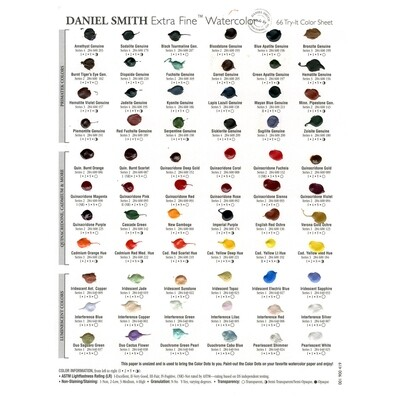 Paint Dot Card, 66 Extra Fine Colours Daniel Smith watercolour