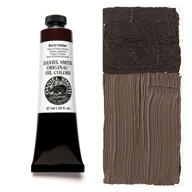 Paint Oil Burnt Umber, 37ml/1.25oz Daniel Smith Series 1