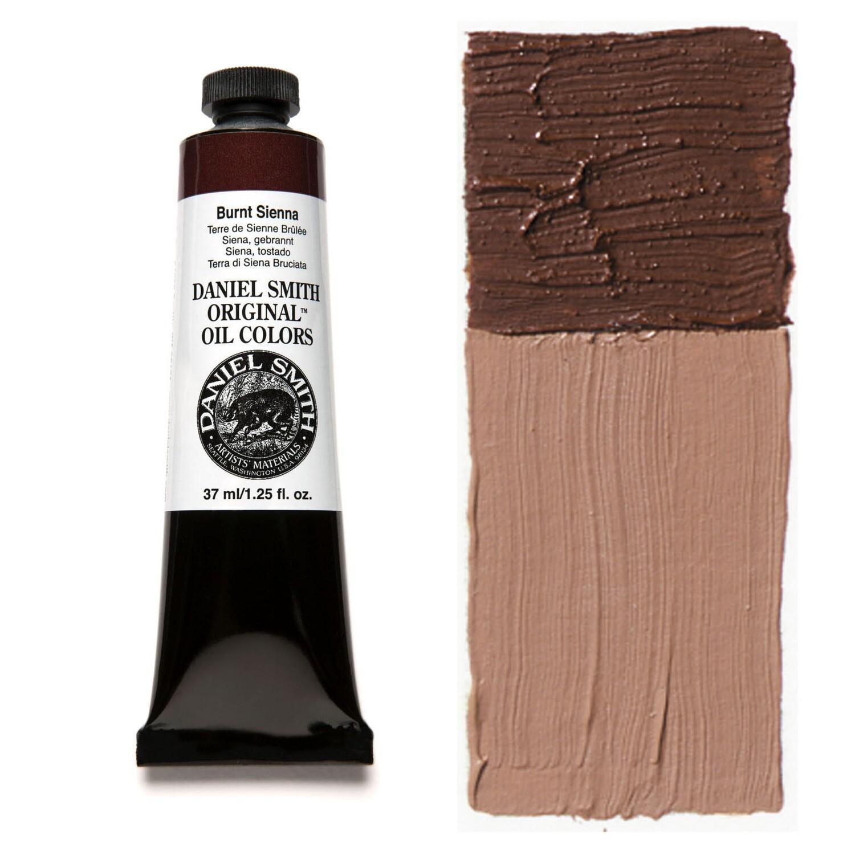 Paint Oil Burnt Sienna, 37ml/1.25oz Daniel Smith Series 1