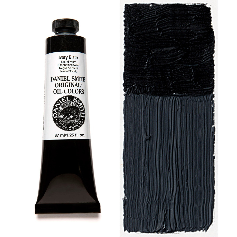 Paint Oil Ivory Black, 37ml/1.25oz Daniel Smith Series 1