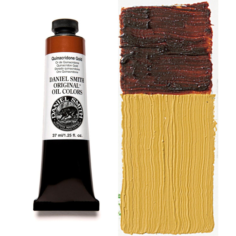 Paint Oil Quinacridone Gold, 37ml/1.25oz Daniel Smith Series 5