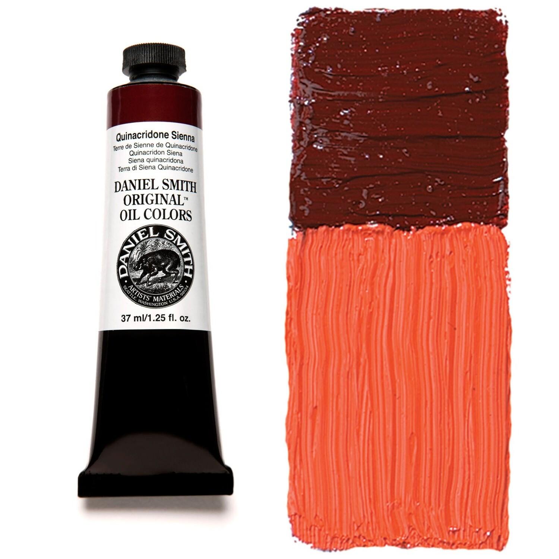 Paint Oil Quinacridone Sienna, 37ml/1.25oz Daniel Smith Series 5