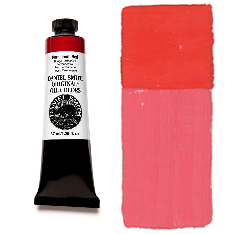 Paint Oil Permanent Red, 37ml/1.25oz Daniel Smith Series 1