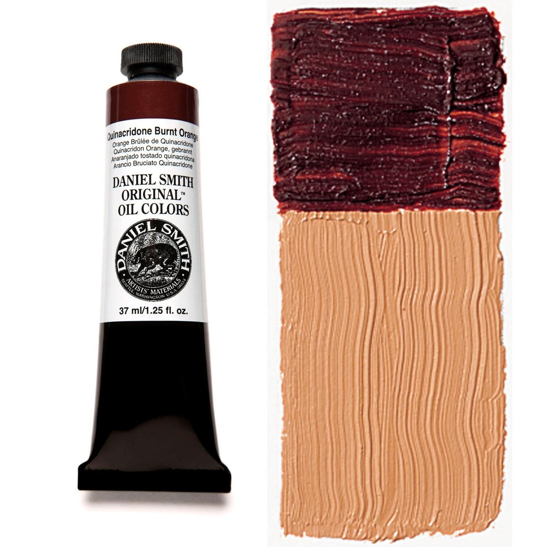 Paint Oil Quinacridone Burnt Orange, 37ml/1.25oz Daniel Smith Series 4