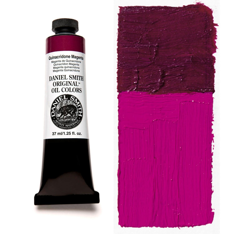 Paint Oil Quinacridone Magenta, 37ml/1.25oz Daniel Smith Series 4