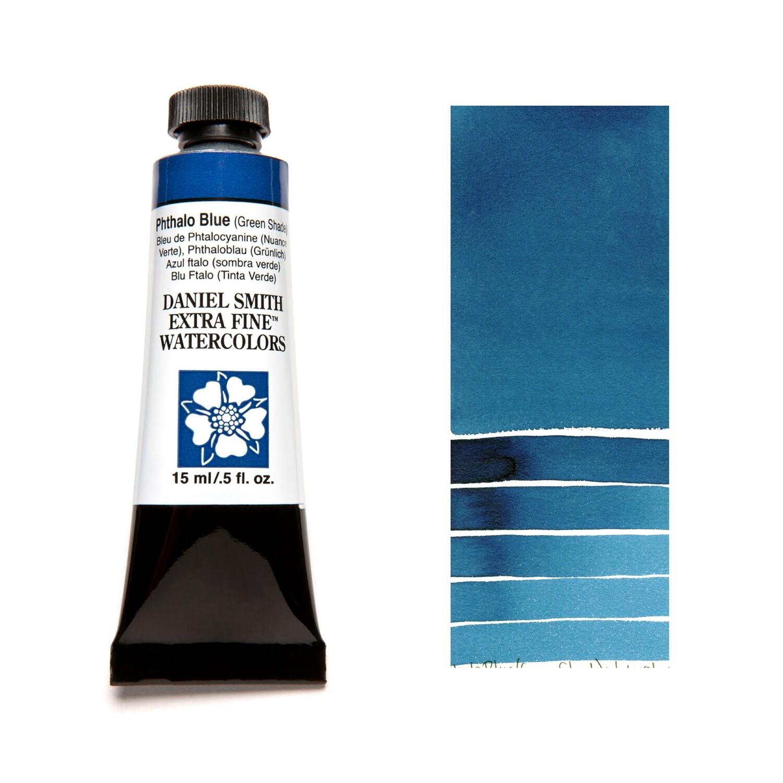 Paint Watercolour Phthalo Blue (Green shade), 15ml Daniel Smith Series 1