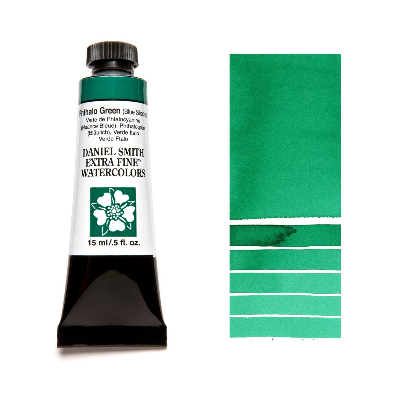 Paint Watercolour Phthalo Green (Blue shade), 15ml Daniel Smith Series 1