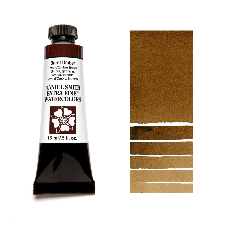 Paint Watercolour Burnt Umber, 15ml Daniel Smith Series 1