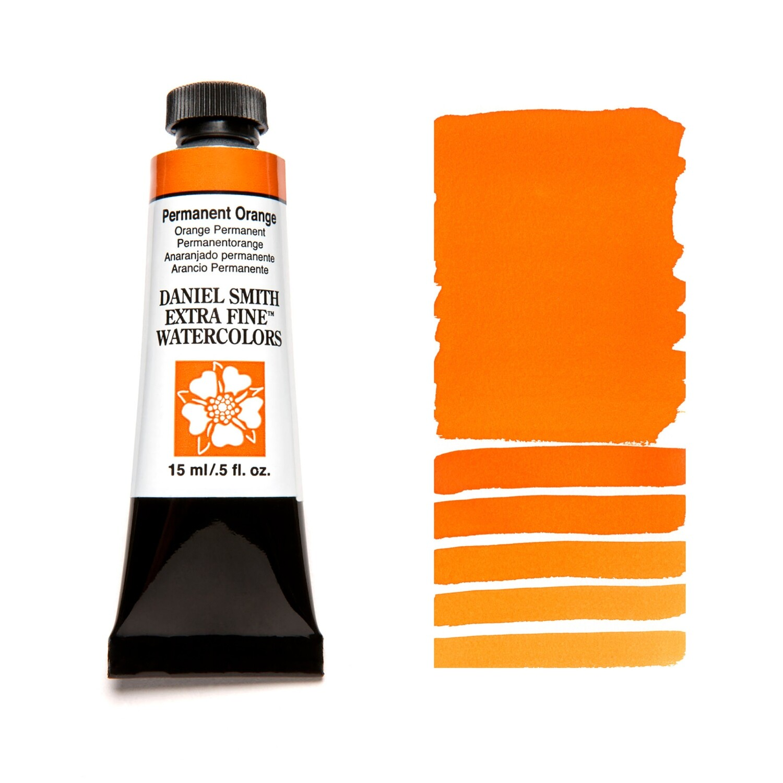 Paint Watercolour Permanent Orange, 15ml Daniel Smith Series 3