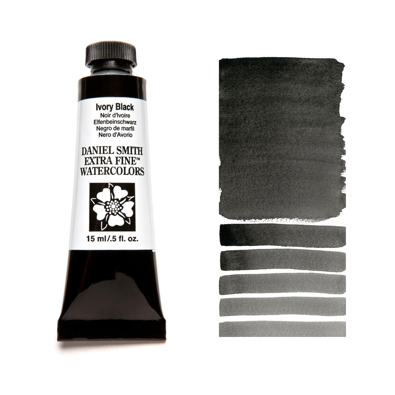 Paint Watercolour Ivory Black, 15ml Daniel Smith Series 1