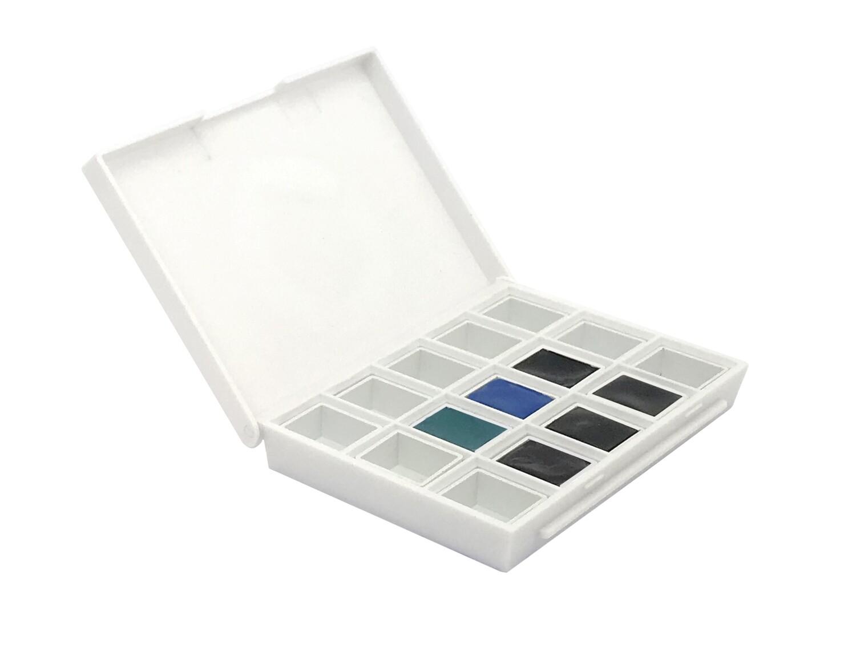 Paint Watercolour, Colours Blues Half Pan Set, 6 Colours Daniel Smith