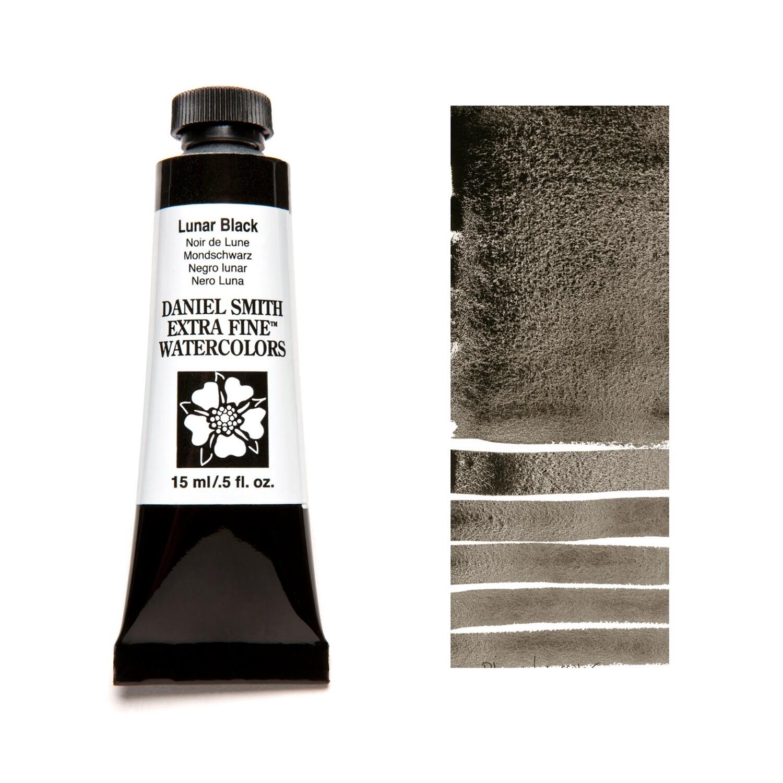 Paint Watercolour Lunar Black, 15ml Daniel Smith Series 1