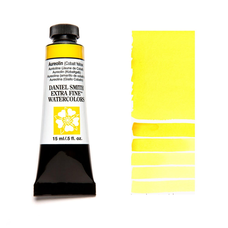 Paint Watercolour Aureolin Cobalt Yellow, 15ml Daniel Smith Series 3