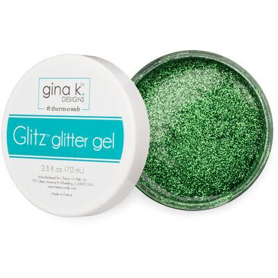 Glitter Gel, Grass Green 2.3 Oz. For Paper