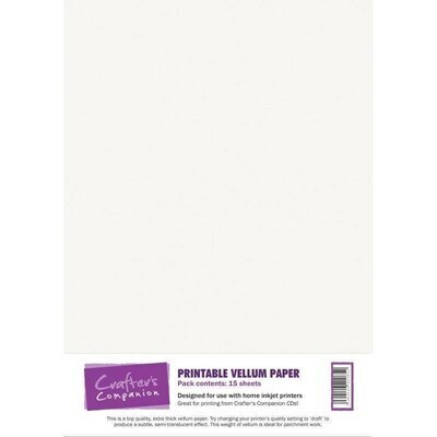 Paper, Printable Vellum A4, 15 Pack