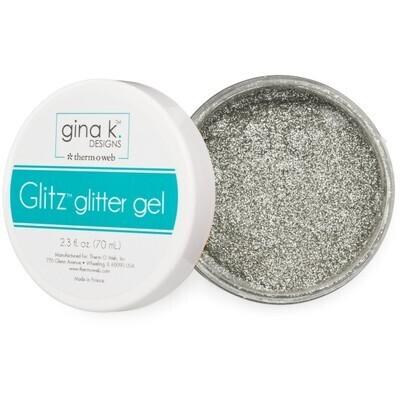 Glitter Gel, Silver 2.3 Oz. For Paper