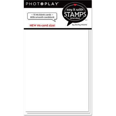 """Cards and Envelopes, Blank White, 3.5"""" x 6.25"""", 10 Cards"""