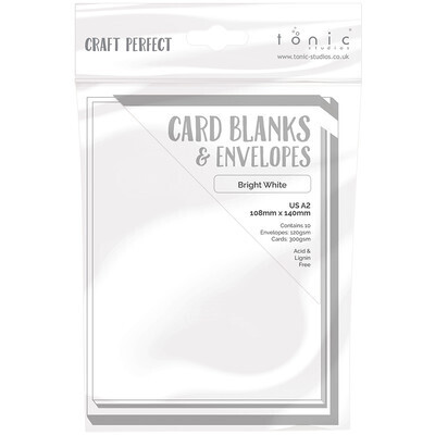 """Cards and Envelopes, Blank  White, 4.25"""" x 5.5"""", 10 Cards"""