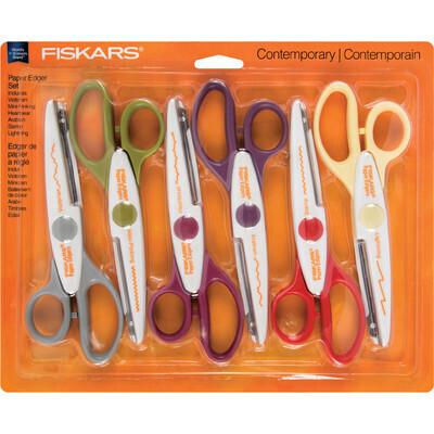 Scissors, Paper Edger, Fiskars Assorted Edges, 6 Pack