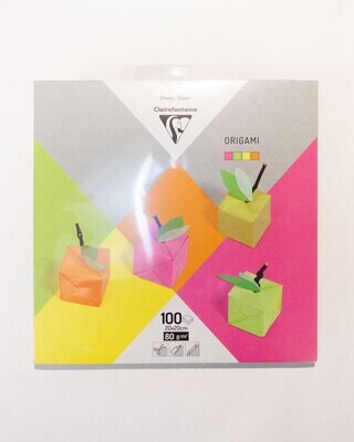 Origami Paper Assorted Neon, 20 x 20 cm, 100 Pack