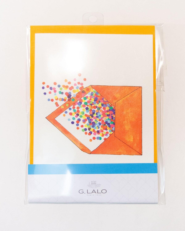 Cards with Envelopes Orange G.Lato Luxury Paper