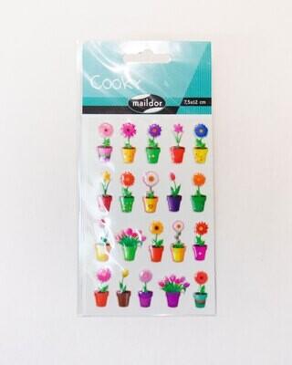 Stickers, Cooky Flowers, 20 Sticker