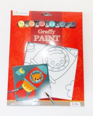 Paint Kit Rocket Bear, 6 Colours, 21 5 x 29 cm