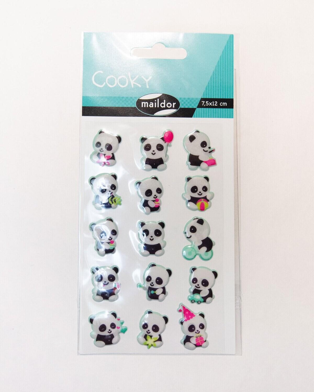 Stickers, Cooky Panda, 15 Sticker