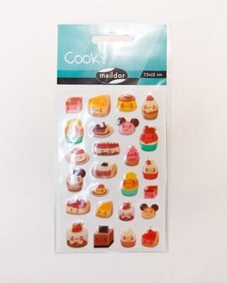 Stickers, Cooky Kawai Cakes, 25 Sticker