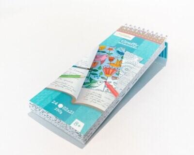 Colouring Bookmark Book Mandala, 12 Designs