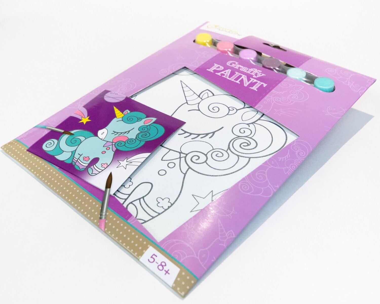 Paint Kit Space Unicorn, 6 Colours, 21 5 x 29 cm