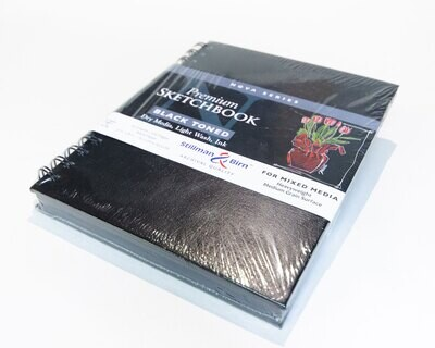 """Sketchbook, For Mixed Media Black Paper, 50 Page, 6"""" x 8"""","""