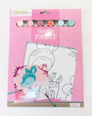 Paint Kit Fawn, 6 Colours, 21 5 x 29 cm