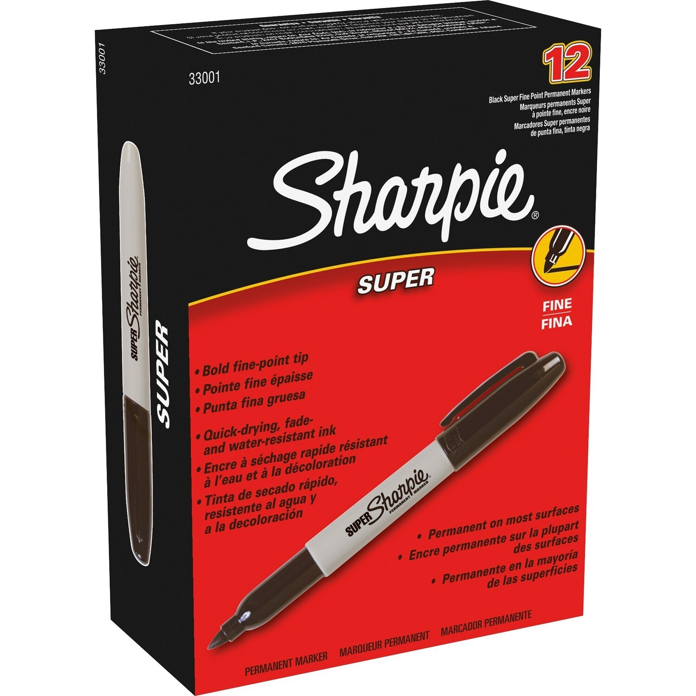 Marker, Sharpie, Bold Black, Box of 12