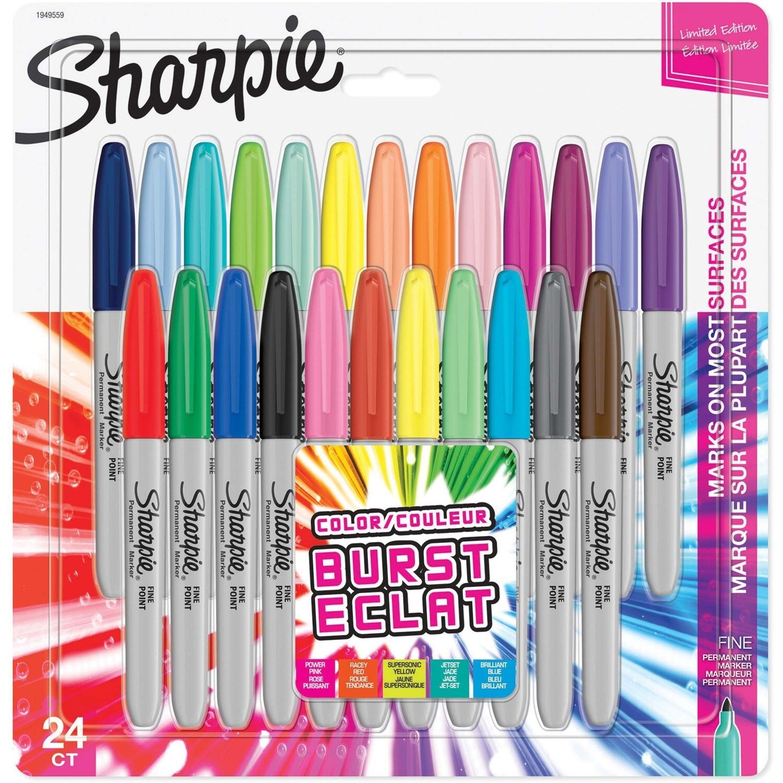 Marker, Sharpie, Fine Assorted, 24 Pack