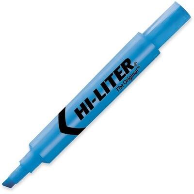 Hi-Liter, Dry Safe, Chisel Fluorescent Blue, Single