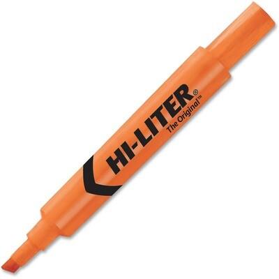 Hi-Liter, Dry Safe, Chisel Fluorescent Orange, Single