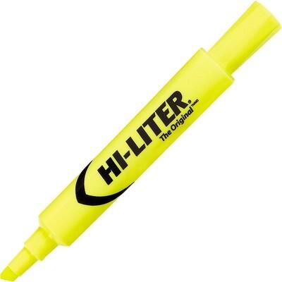 Hi-Liter, Dry Safe, Chisel Fluorescent Yellow, Single