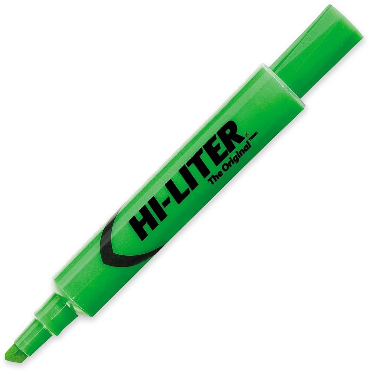 Hi-Liter, Dry Safe, Chisel Fluorescent Green, Single