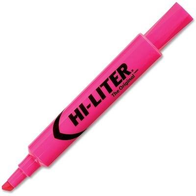 Hi-Liter, Dry Safe, Chisel Fluorescent Pink, Single