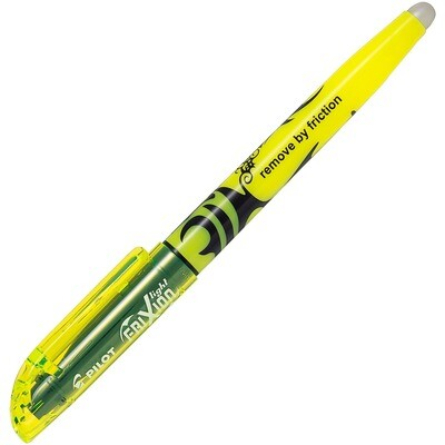 Highlighter, Erasable, Frixion, Chisel Yellow, Single