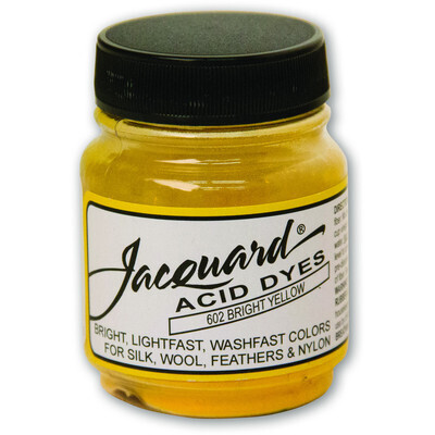 Fabric Acid Dyes, Bright Yellow 14g