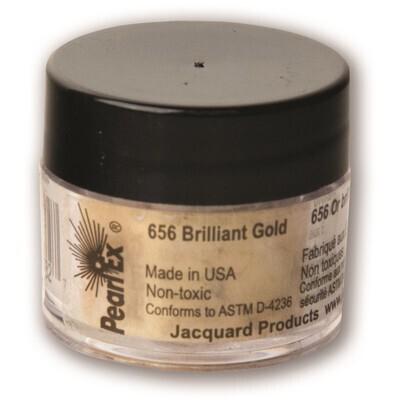 Pigment Powdered, Pearl Ex Brilliant Gold, 3G
