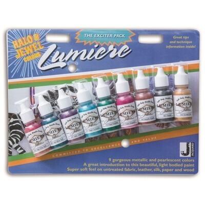Fabric Paint, Metallic Acrylic Lumiere, 9 Pack, 14.97Ml Bottles