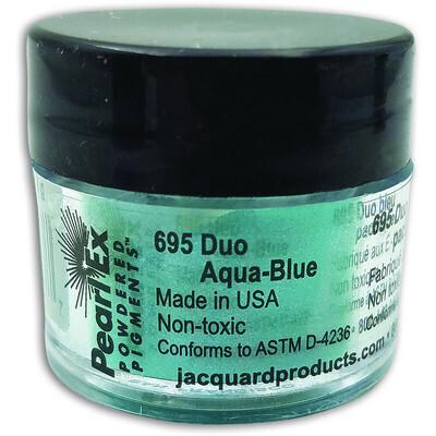 Pigment Powdered, Pearl Ex Duo Aqua-Blue, 3G