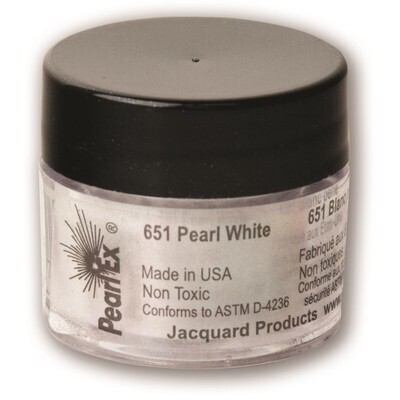 Pigment Powdered, Pearl Ex Pearl White, 3G