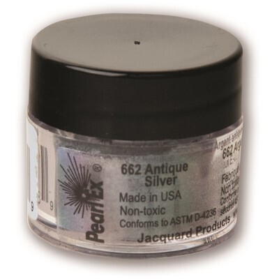 Pigment Powdered, Pearl Ex Antique Silver, 3G