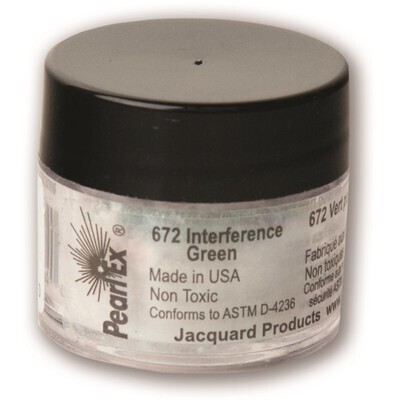 Pigment Powdered, Pearl Ex Interference Green, 3G