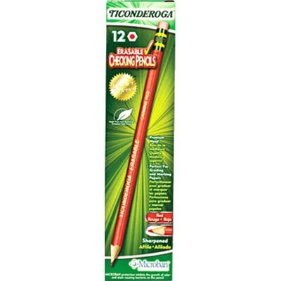 Pencil, Checking, Dixon Red, 12 Pack