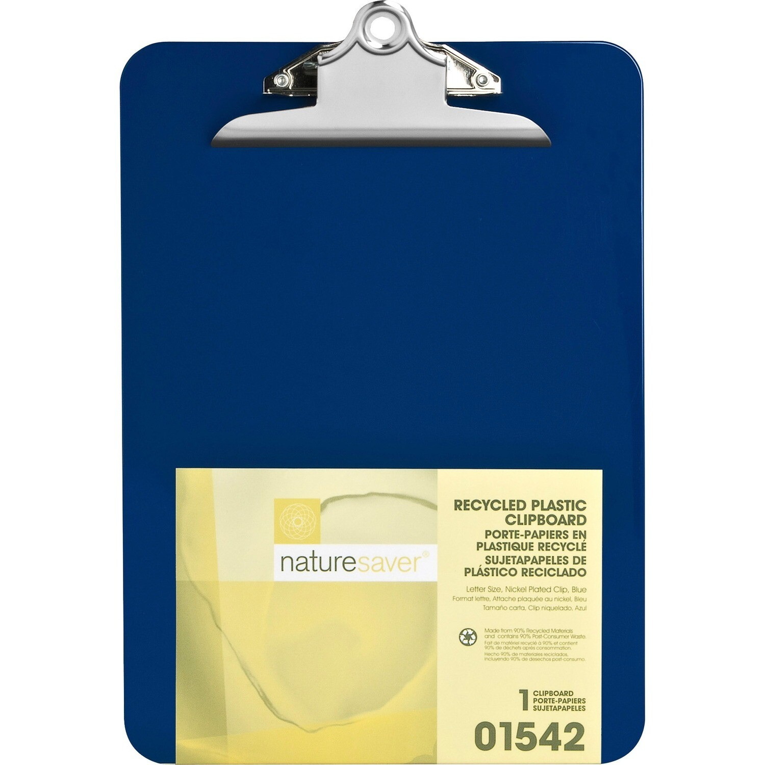 Clipboard, Letter, Recycled Plastic Blue, Heavy Duty